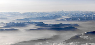 View to mountains of the alps Stock Image