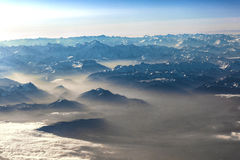 View to mountains of the alps Royalty Free Stock Images