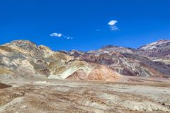View to the mountains of artists palette in death valley Royalty Free Stock Photo