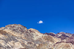 View to the mountains of artists palette in death valley Royalty Free Stock Image