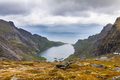 View to mountains near Reine, Lofoten, Norway Royalty Free Stock Photo