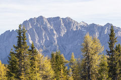 View to the mountains peaks Stock Photography