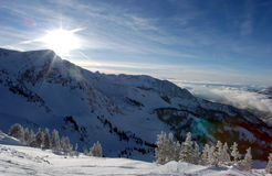 View to the Mountains from Snowbird ski resort Royalty Free Stock Images