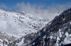 View to the Mountains from Snowbird ski resort in Utah, USA Stock Photo