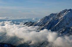 View to the Mountains from Snowbird ski resort in Utah, USA Royalty Free Stock Image
