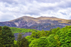 View to mountains in Snowdonia National Park in North Wales Royalty Free Stock Photography