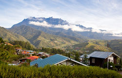 View to the mt. Kinabalu, Borneo, Malaysia. View to the mountain Kinabalu in the morning, Borneo, Malaysia Royalty Free Stock Photography
