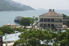 View to the Murray House and Stanley harbor in Hong Kong, China. Royalty Free Stock Image