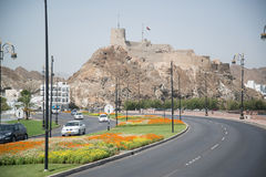 View to Muscat. MUSCAT, OMAN CIRCA JUNE 2014: View to Muscat the capital city in Oman stock images