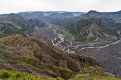 View to the Myrdalsjoekull and the volcano Katla Royalty Free Stock Photography