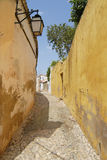 View to the narrow street in Silves, Portugal. Stock Photos