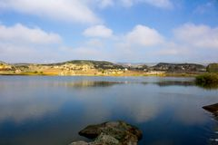 View to the natural lake in Phrygian valley in Afyon. During the sunny day Royalty Free Stock Images