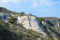 View to the natural pools and edge of the Petrified Waterfall Royalty Free Stock Photo