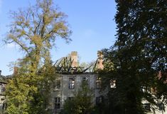 Ruin of a manor house. View to a near-derelicted ruin of a manor house in Brandenburg, Germany Stock Photography