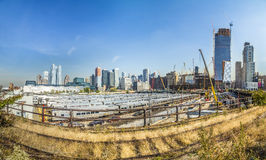 View to  neighborhood Midtown with Penn Station in New York Royalty Free Stock Photo