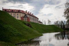 View to Nesvizh Castle stock image