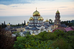 View to the New Athos Monastery Royalty Free Stock Image