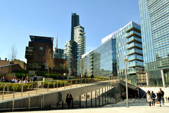 View to new business centre of Milan. Stock Photography