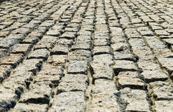 View to new cobblestone road Stock Photography