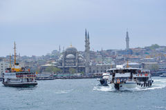 View to the New Mosque seen from the water Royalty Free Stock Photography