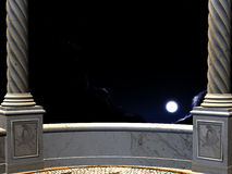 View on night from a balcony Stock Photography