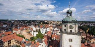 View to Nikolai Church tower in Altenburg Thuringia Stock Photography