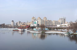 View to Nikolska Slobidka in Kyiv Royalty Free Stock Images
