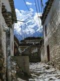 View to Nilgiri from Jomson, Nepal Stock Image