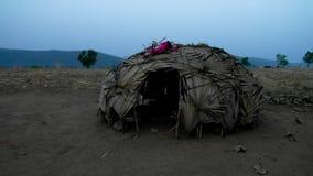 View to nomadic Wodaabe aka Mbororo tribe village, Poli, Cameroon. View to nomadic Wodaabe aka Mbororo tribe village near Poli, Cameroon Royalty Free Stock Photo