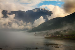 View to Nordfjord in Norway Royalty Free Stock Photography