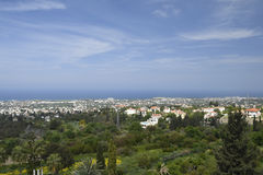 View to the North East over the Kyrenia town Royalty Free Stock Photos
