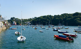View to North on Fowey River Cornwall England UK Stock Images