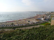 View to the north of Lima bay from Chorrillos Stock Photos