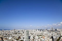 Tel-Aviv Cityscape. A view to the north-west showing the cityscape of Tel-Aviv, the largest metropolis in Israel Stock Photo