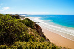 View to the ocean above some cliffs, Victoria Stock Photos