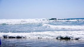 The view to ocean at Mexico stock footage