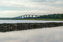 View to the Oland bridge. In Sweden royalty free stock photo