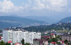 View to old districts of the Sochi, Russia Stock Photo