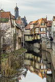 View to old half timbered houses in Marktbreit Royalty Free Stock Photography