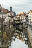 View to old half timbered houses in Marktbreit Royalty Free Stock Photos