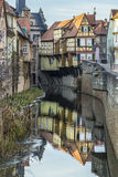 View to old half timbered houses in Marktbreit Royalty Free Stock Image