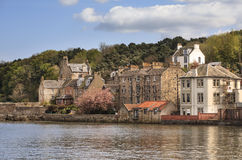 View To Old Houses In South Queensferry, Scotland Royalty Free Stock Photos