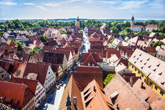 View to old medieval city Royalty Free Stock Photos