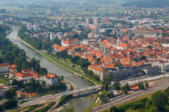 A view to the old town of Celje Royalty Free Stock Image