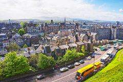 View to the Old Town of Edinburgh in Scotland Royalty Free Stock Image