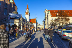 View to old town hall in Munich Stock Image