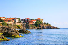 View to the old town of Sozopol, Bulgaria Stock Images