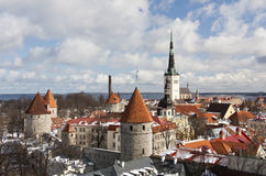 View to the Old Town of Tallinn, Estonia royalty free stock image
