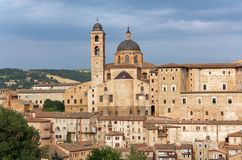 Old town of Urbino, Italy. View to the old town of Urbino, Italy. The historical part of the city is listed as UNESCO World Heritage Royalty Free Stock Photography