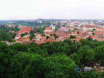 View to old Vilnius from Gediminas castle Stock Photo